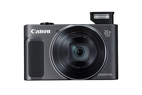 Canon PowerShot SX620HS 20.2MP Digital Camera with 25x Optical Zoom (Black) + 8GB Memory Card + Camera Case