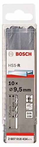 Bosch 2607018400 Foret à métaux laminé HSS-R DIN 338 Ø 1 mm 10 pièces