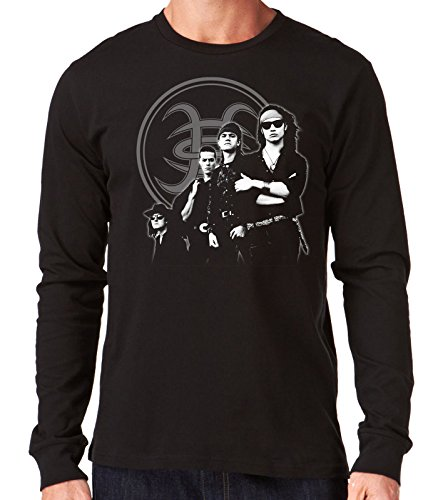 35mm - Camiseta Hombre Manga Larga - Heroes Del Silencio - Senderos De Traición - Long Sleeve Man Shirt, NEGRA, XXL
