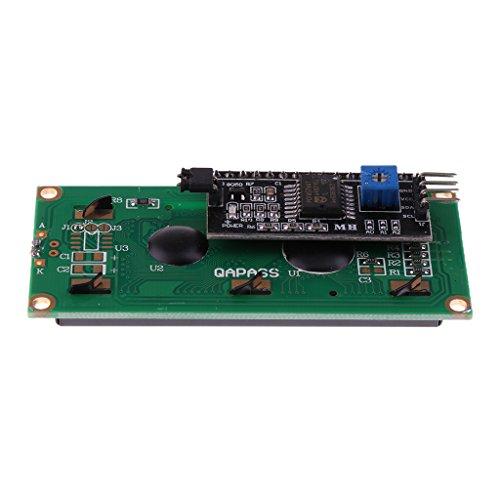 Series Lcd (MagiDeal Gelb Grün LCD1602 Iic I2c Twi 1602 Serien LCD Display Modul Für Arduino)