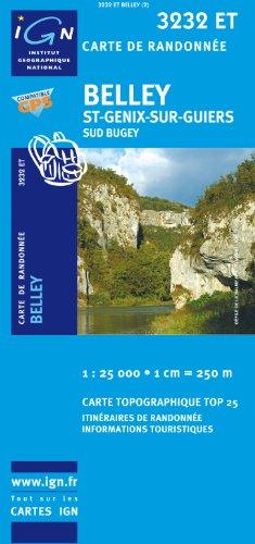 Belley / St-Genix-sur-Guiers / Sud Bugey gps: IGN.3232ET