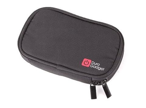 Black Water Resistant Memory Foam Case For Iomega eGo Red,