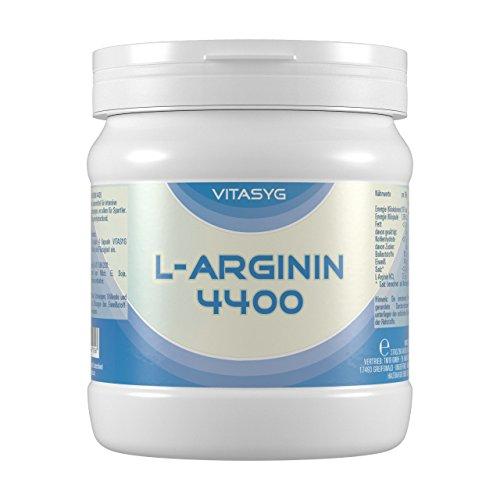 L-Arginin 4400 - 260 L-Arginin Kapseln hochdosiert mit 4400mg L-Arginin HCL pro Tagesdosis
