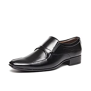 BACCA BUCCI MEN BLACK PU FROMAL SHOES