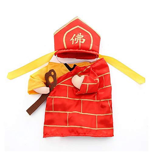YaptheS Pet Monk Kleidung M Hund Katze Jacket Dress Up Hoodies Cosplay Kleidung lustiges Kostüm Favor Pet Monk Outfit