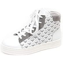 Armani E8894 Sneaker Alta Bimbo White Grey Junior Scarpe Shoe Kid Boy 996ef548a81