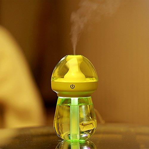 Gaddrt® Luftreiniger 240 ml Mini USB Tragbarer Diffusor Zerstäuber Flasche Nachtlicht Luftbefeuchter Nebel Dampferzeuger für Zuhause Büro Auto Outdoor, grün (Luftbefeuchter, Outdoor-sensor)