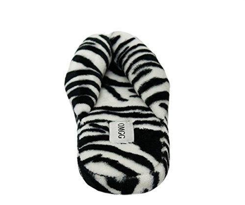 Onmygogo  Amazing Animal Prints, Damen Hausschuhe Zebra