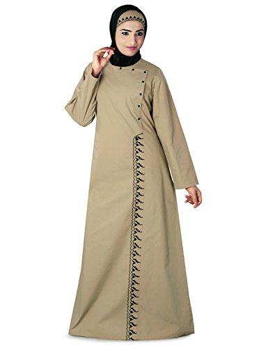 MyBatua Islamic Ethnic Wasimah Abaya Khaki Cotton