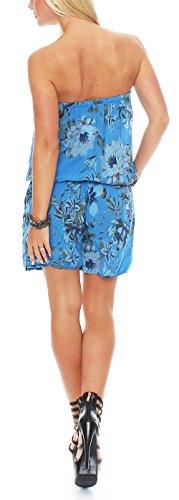 malito court Jumpsuit Romper Body Salopette 8058 Femme Taille Unique bleu clair
