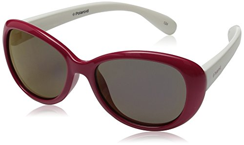 Polaroid Unisex-Kinder PLD 8004/S MF T4L Sonnenbrille, Rot (Red White/Grey), 48