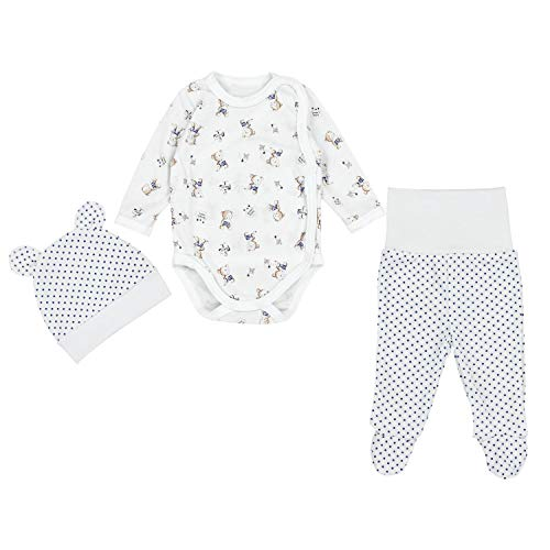 TupTam Baby Unisex Bekleidungsset mit Aufdruck 3 TLG, Farbe: Bärchen/Sterne...