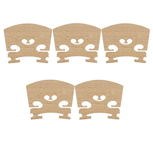 Sharplace 5X Steg für 4/4 Violine, Geigensteg Violinensteg Brücke Bridge Holz 5 × 0,5 × 4 cm