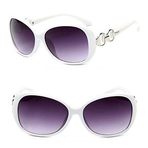 GK Damen-Weinlese-Sonnenbrille-übergroßer runder Rahmen-Retro Designer Shades Designer