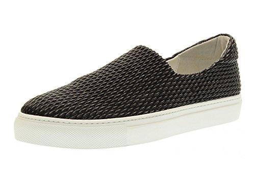 FRAU Frauen niedrige Sneaker Schuhe ohne Schnürsenkel 40C0 BLACK Black