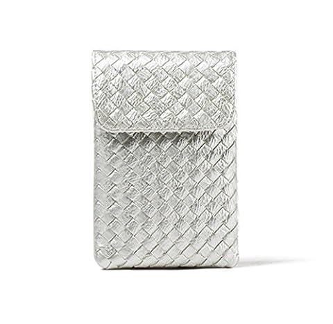 SUNDAYROSE , Damen Umhängetasche, metallic - silber - Größe: One Size (Metallic One Pocket)