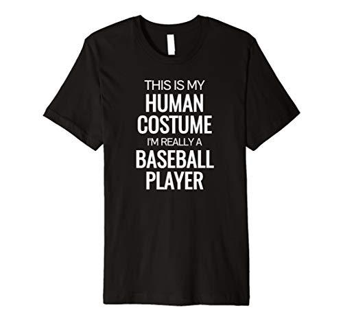 Echthaar Kostüm Ich bin wirklich ein Baseball Player Halloween Tshirt