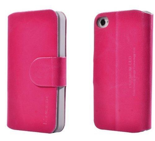 Megix Premium PU-Leder CEO Royal Wallet Stil und Stand Up Design rose (Iphone Stand-up-fall)