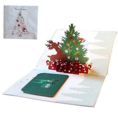 Biglietti Di Natale Di Carta.Kofun 3d Pop Up Biglietto Di Auguri Con Busta Di Carta Artigianato