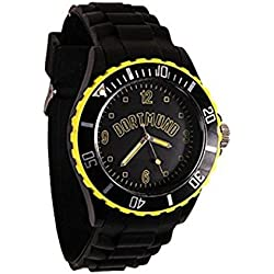 Dortmund City Silicone Wristwatch 251 Bracelet Watch in Black/Yellow/NEW
