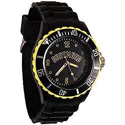 Dortmund City Silicone Wristwatch Black / Yellow