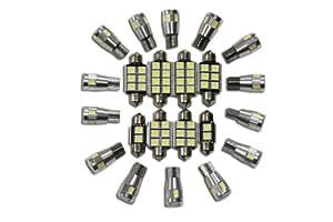 Volkswagen polo 6N 6N2 3 iII gTi set éclairage intérieur de 2 ampoules canbus 4 lED sMD ´ s, xenon blanc ultra claires et un bon éclairage du fahrzeuginnenraumes