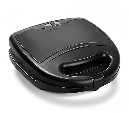 Electric Sandwich maker, toster, waffle maker, grill | set of 3 removable plates REDMOND RSM-M1404-E