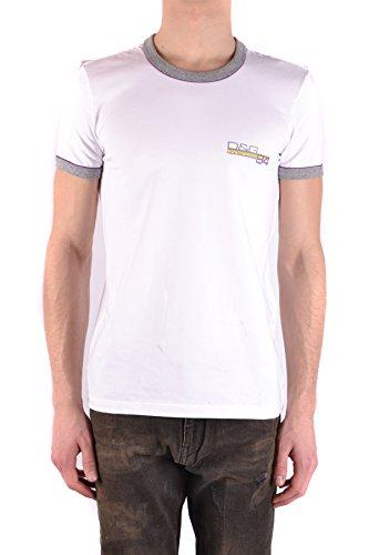 DOLCE E GABBANA Herren Mcbi0992730o Weiss Baumwolle T-Shirt Dolce Und Gabbana, Weißes T-shirt