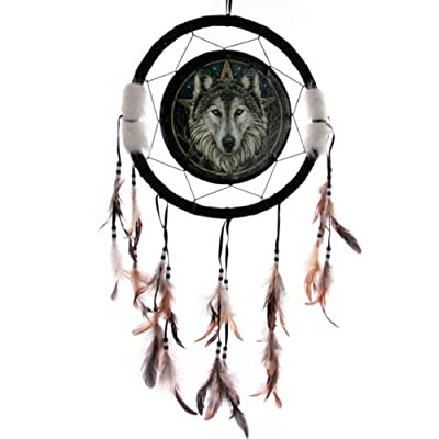 Dreamcatcher Print - Lisa Parker Wolf Head 33cm