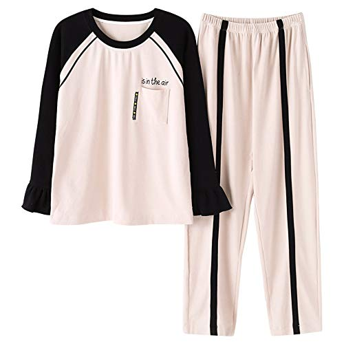 Mmllse Pyjama-Sets Winter Pyjamas Dressing Schlaf Kann Außerhalb Nachtwäsche Getragen Werden Mode Homewear Nachthemd XL