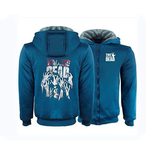 Xdsy The Walking Dead Verdicken Reißverschluss Jacke Student Hoodie Winter Sweatshirt Warme Jacke Sweatshirt,b,S
