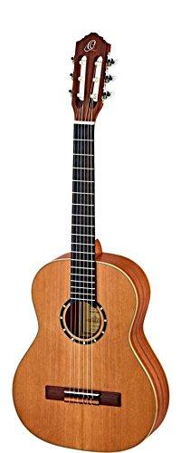 Ortega Guitars R122L-3/4 Konzertgitarre in 3/4 Größe natur im seidenmatten Finish mit hochwertigem Gigbag