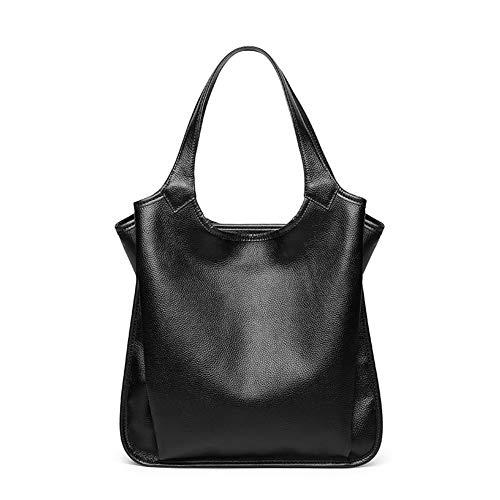 Yoome Vintage Hobo Handtaschen Schultertaschen Durable Leder Tragetaschen Crossbody Geldbörsen Eimer Tasche für Frauen/Damen - Schwarz -