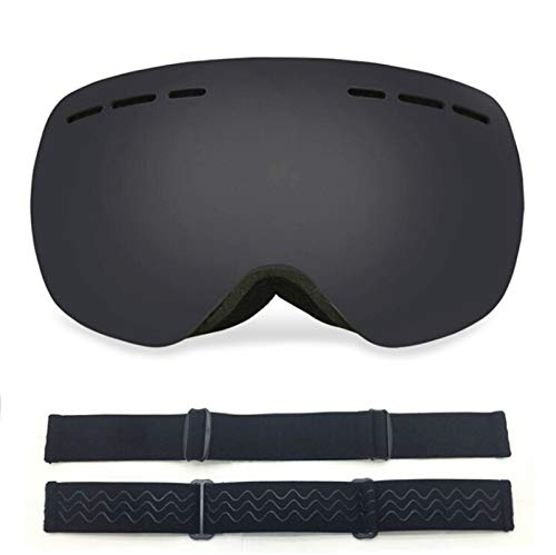 KnBoB Skibrille Anti Fog Sportbrille In Sehstärke Schwarz