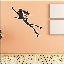 Makeyong Athlète De PlongéeVinyle Sticker Décor À La Maison Salon Bricolage Art Mural Amovible Sport Stickers Muraux