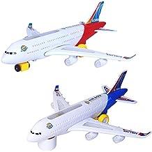 Demiawaking Elektrisches Flugzeug blinkende Lichter klingt scherzt Kind Spielzeug DIY Flugzeug Geschenk