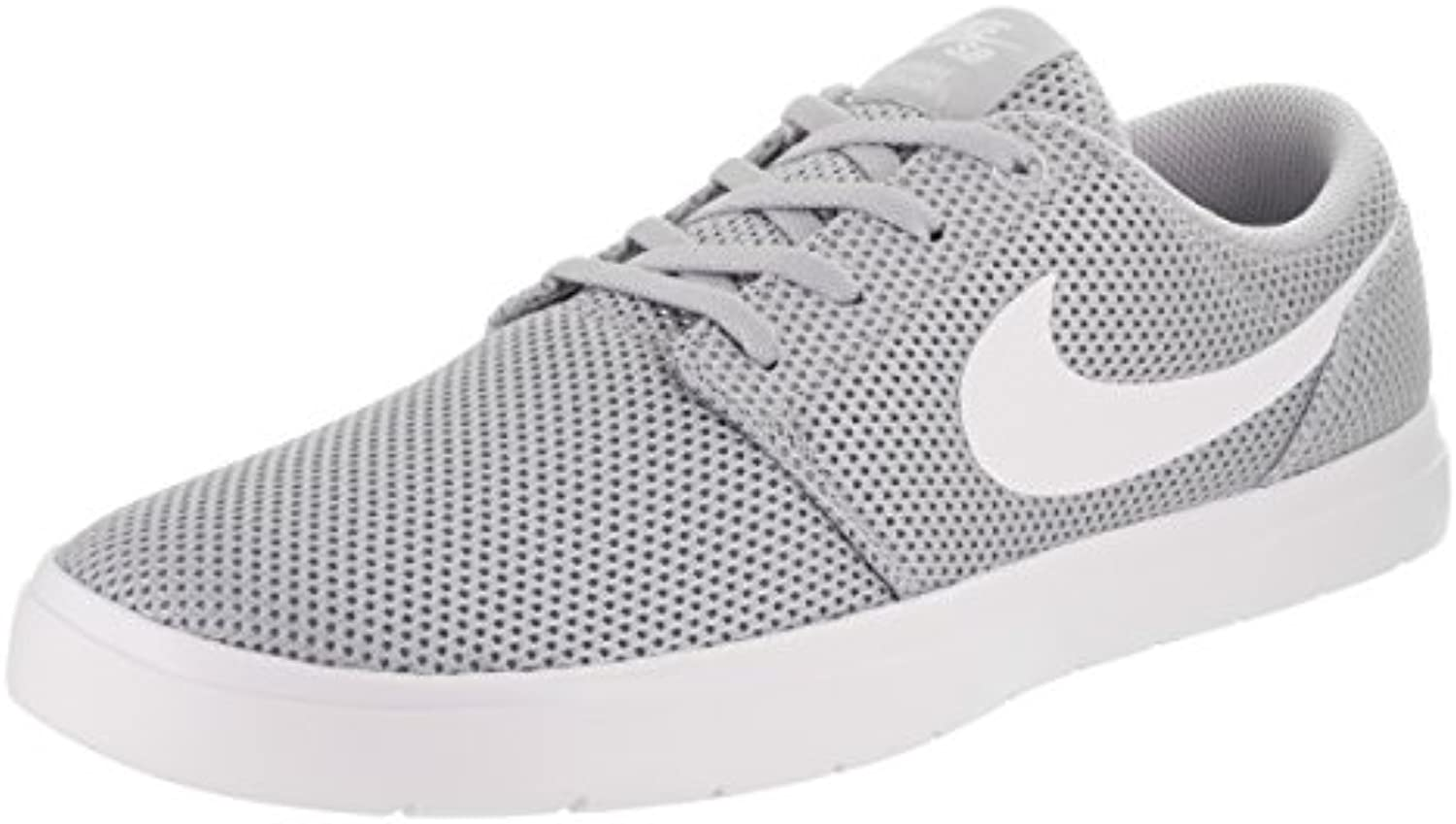Zapatillas de skate Nike Sb Portmoire II Ultralight Wolf gris / blanco para hombre 11.5 Men US