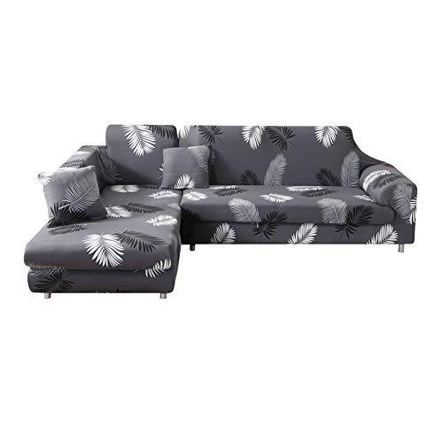 Fansu copridivano elastico, copridivano salotto protettore imbottito sofa mobili copridivano elastico antiscivolo ideale per poltrone (3 posti: 190-230cm,foglia)