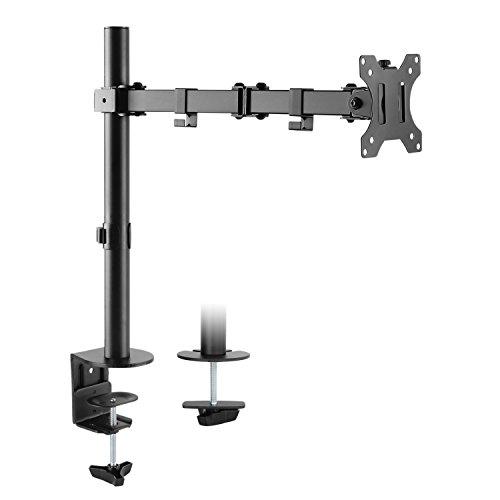 """RICOO Universal Monitor Halterung TS2711 Schwenkbar Neigbar Bildschirm Monitorhalterung Tischhalterung LCD LED TFT Curved 4K Bildschirmhalterung VESA 75x75 100x100 33-76cm 13""""-30"""" Zoll Schwarz"""