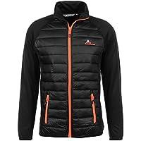 Peak Mountain CALER/WZ - Cazadora para hombre, Hombre, chaqueta, CALER/WZ, negro/naranja, extra-large