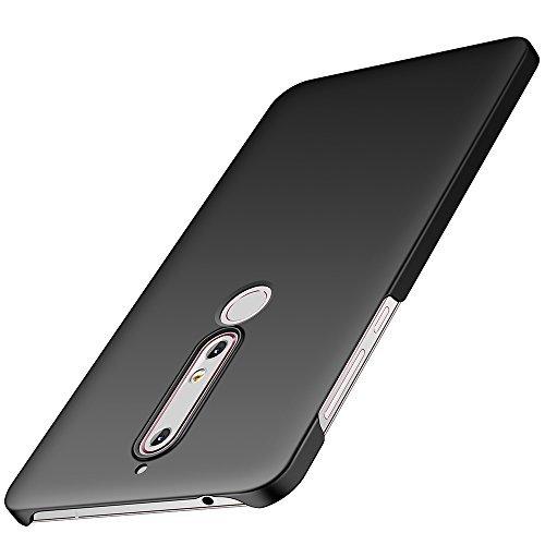 anccer Nokia 6 2018 Hülle, [Serie Matte] Elastische Schockabsorption und Ultra Thin Design für Nokia 6 2018 (Glattes Schwarzes)