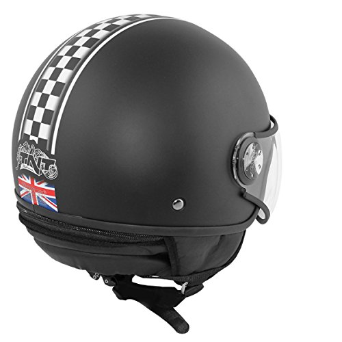 CASCO 1 / 2 JET TNT PUCK CAFE RACER UNION JACK L