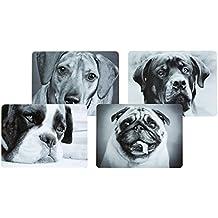 Kitchen Craft - Manteles individuales de corcho con base laminada, diseño de perros