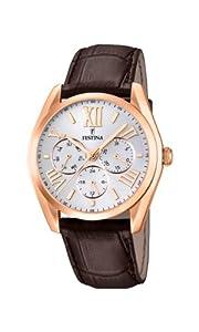 Festina F16754/1 - Reloj de cuarzo para hombre, con correa de cuero, color marrón de Festina