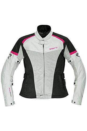 Difi SAN DIEGO LADY Motorradjacke Sommer Damen Farbe silbergrau/schwarz, Farbe silbergrau/schwarz, Größe 44
