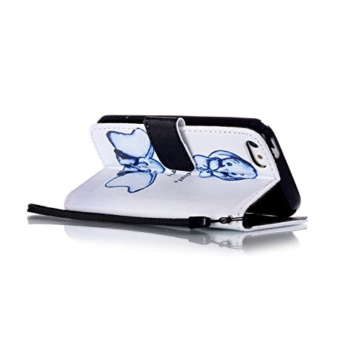 Voguecase® Pour Iphone SE Coque, Etui Housse Cuir Portefeuille Case Cover (Dragonne-Somnolent Chouette)de Gratuit stylet l'écran aléatoire universelle Dragonne-éléphant avec de grandes oreilles