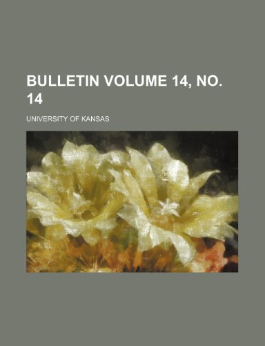 Bulletin Volume 14, no. 14