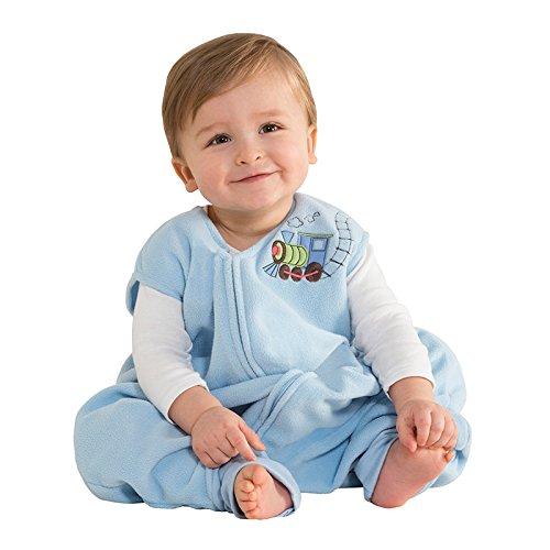 Halo Innovations Early Walker Tragbare Fleece-Decke für Kleinkinder (Größe XL, Blau, Zug-Design)