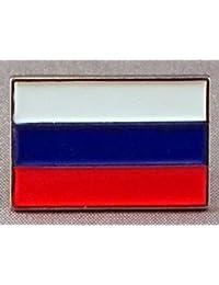 Pin de Metal esmaltado, Insignia Broche Bandera de Rusia (Rusia)
