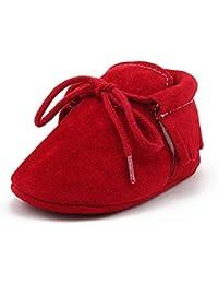 DELEBAO Zapatos de Niño Botas Gamuza Cuero Bebé Zapatillas para Bebe con Suela Blanda Zapatos Primeros Pasos Recien Nacidos